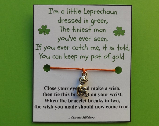 Irish Leprechaun Wish Bracelet