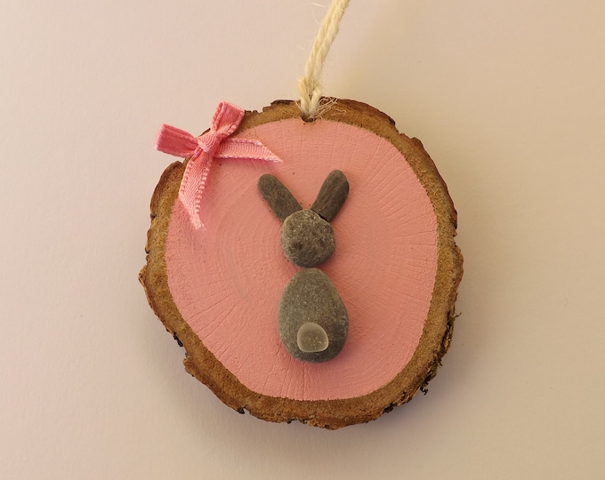 MTO Rabbit Bunny Wood Slice