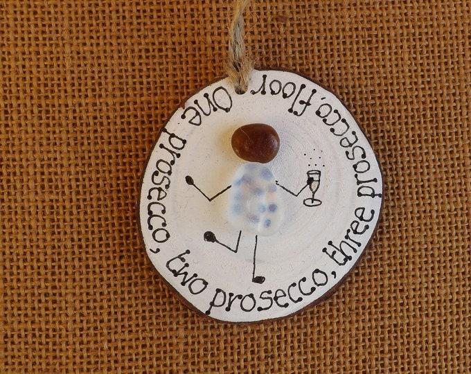 MTO Sea Glass One Prosecco Two Three Floor Wood Slice