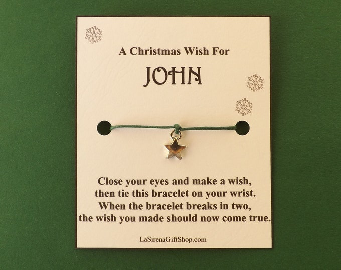 A Christmas Wish For Personalized Star Wish Bracelet