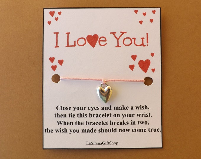 I Love You Wish Bracelet