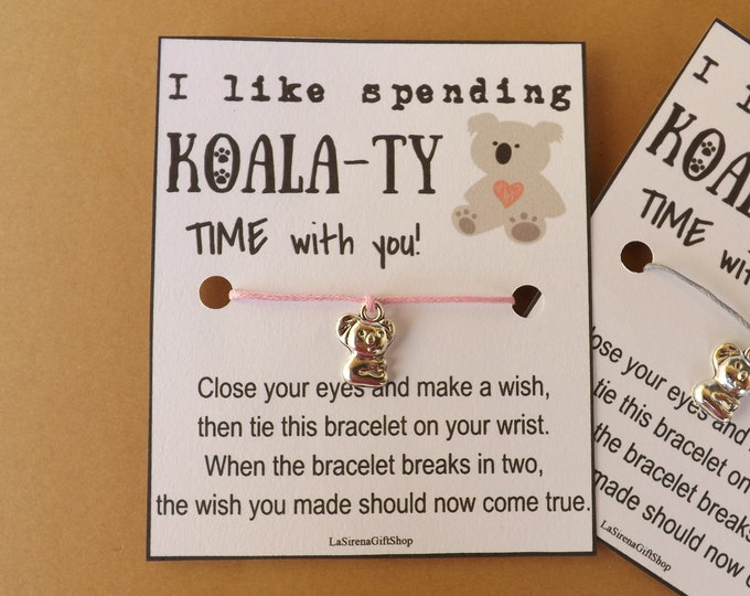 I like Koala-Ty Time Wish Bracelet