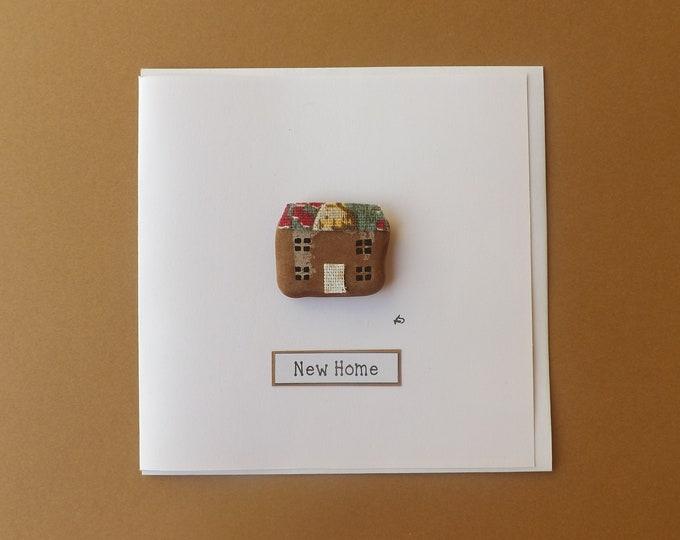 Pebble Art Card Sea Pottery Cottage NEW HOME