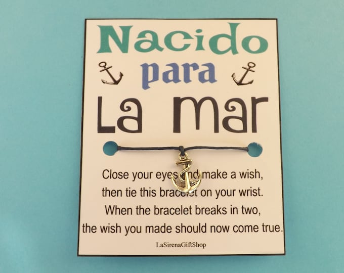 Nacido Para La Mar Anchor Wish Bracelet