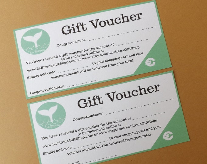 Gift VOUCHER for my Etsy or Online Shop