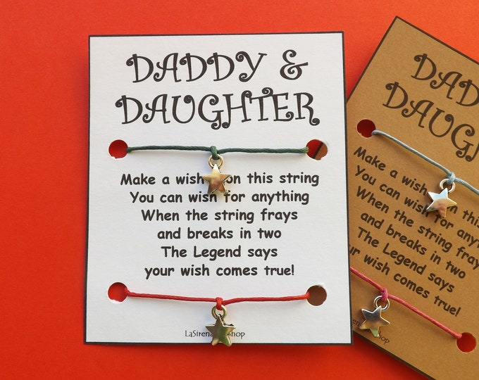Daddy Daughter Double Wish Bracelet