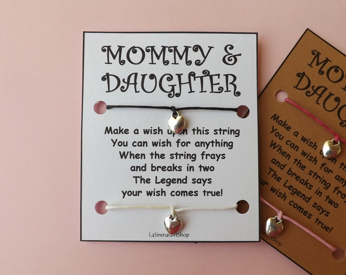 Mommy Daughter Double Wish Bracelet