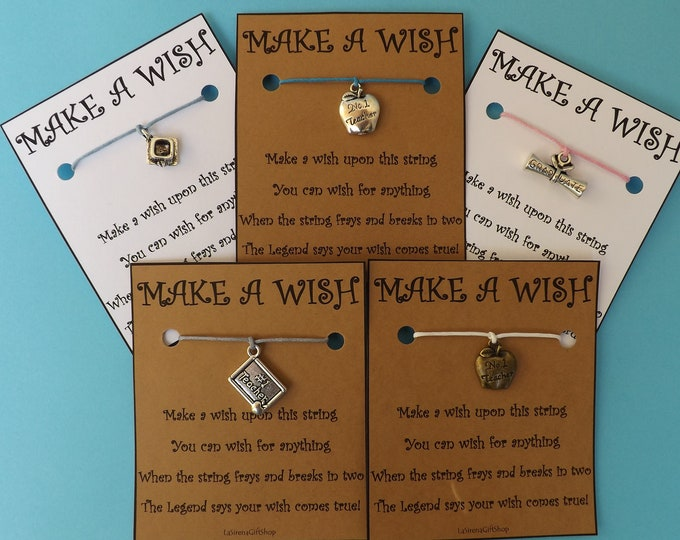 School Teaching Collection Wish Bracelet