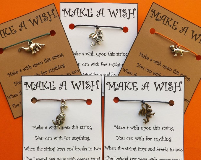 Dinosaurs and Dragons Wish Bracelets