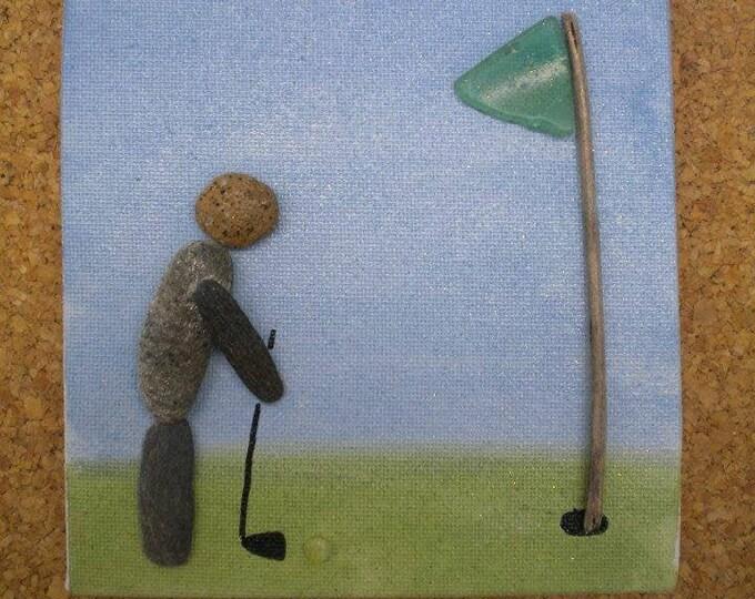 MTO GOLFING GOLF Golfer Beach Art Canvas