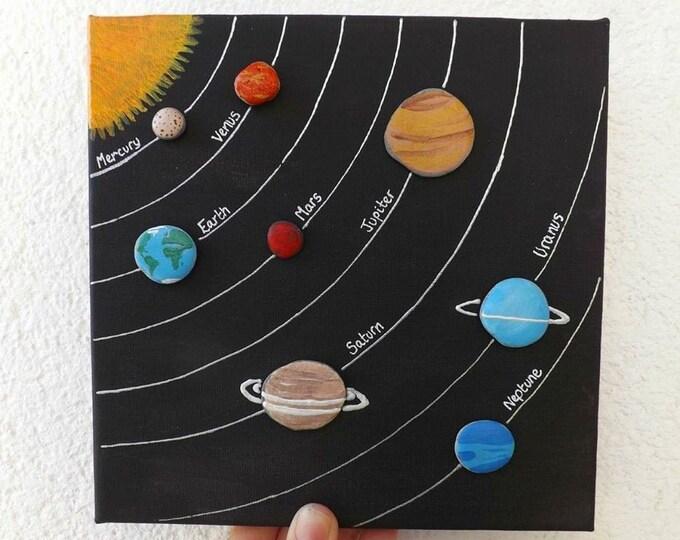 MTO Pebble Art Planets Solar System Scene