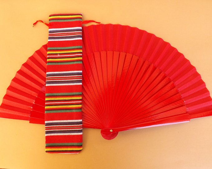 Woven Stripe Design Hand Fan Cover WITH or WITHOUT Any Color Standard Hand Fan