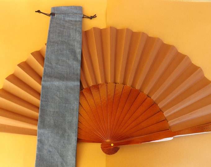 Denim Look Fabric Hand Fan Bag WITH or WITHOUT Any Color XL Pericon Hand Fan