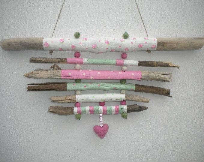 MTO Hanging Painted Driftwood Wall Hanging