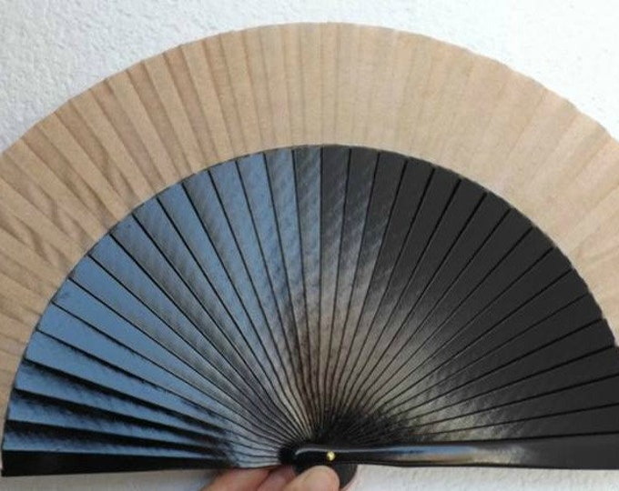 MTO Std Black and Gold Hand Fan