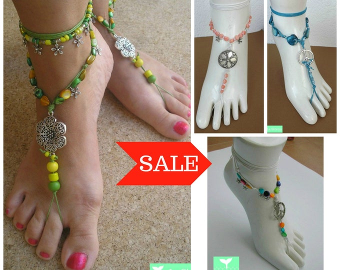 Colored Barefoot Sandals