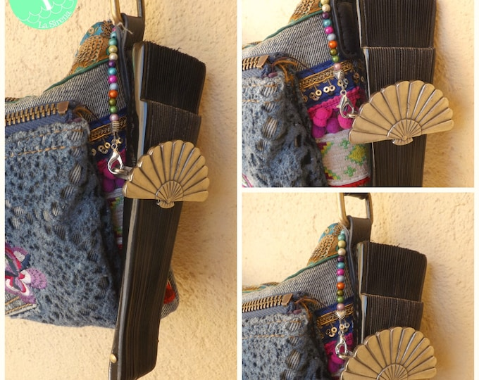 Beaded Hand Fan Bag Holder
