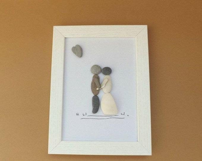 MTO WEDDING COUPLE Pebble Art
