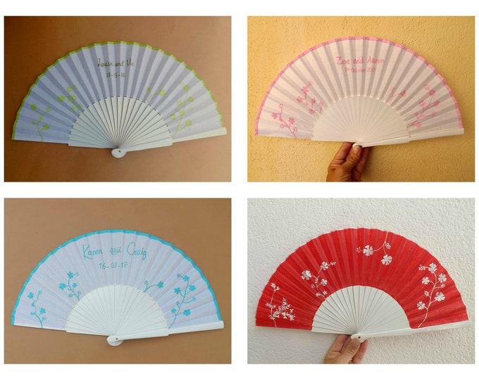 MTO Std Wedding Save The Date Wood Hand Fan