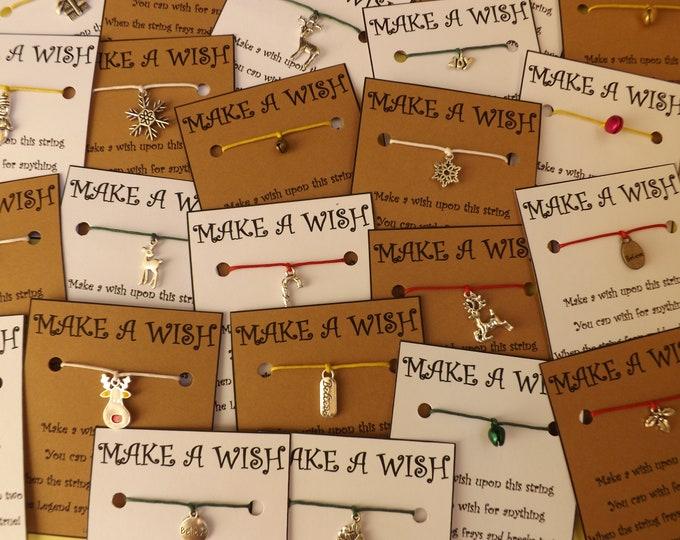 CHRISTMAS WHOLESALE MIX Wish Bracelet Stocking Fillers