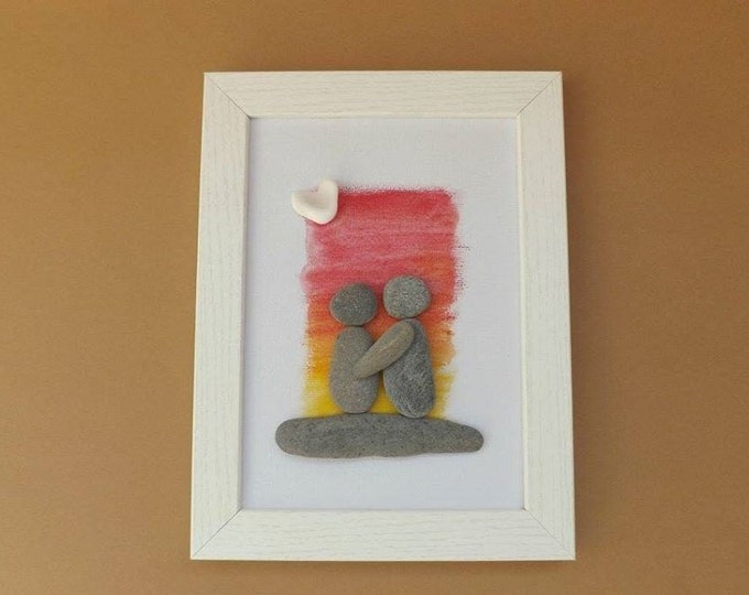 MTO SUNSET COUPLE Pebble Art