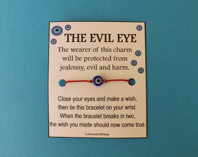 COBALT BLUE Evil Eye Wish Bracelet