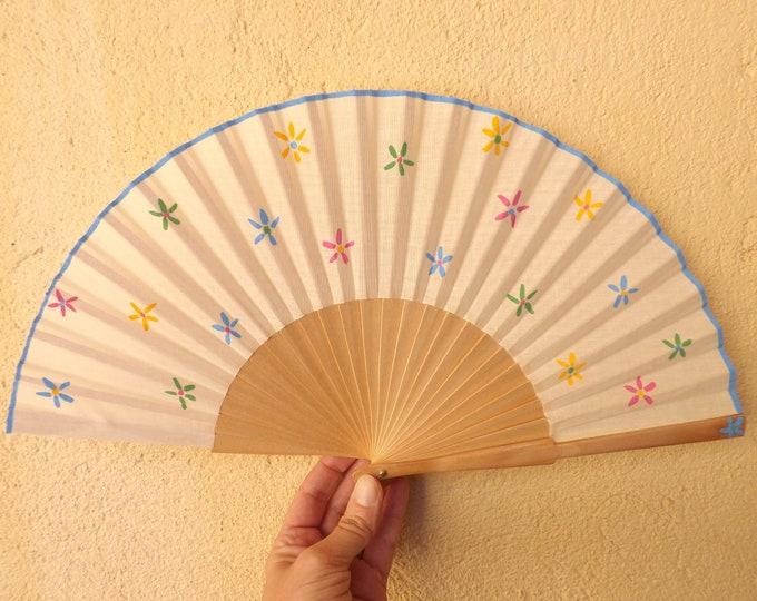 Std Pretty Floral Flower Flowery Hand Fan