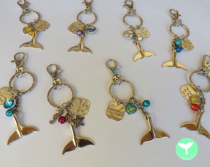 Whale or Mermaid Tail Keychain