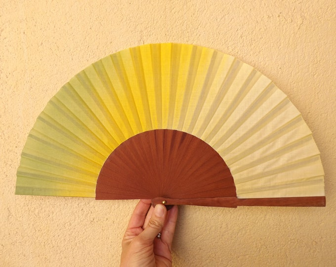 MTO Std Spring Colors Pear Wood Hand Fan