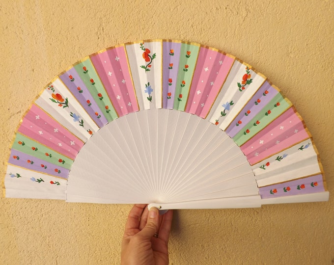 Large 18th Century Inspired Style Hand Fan