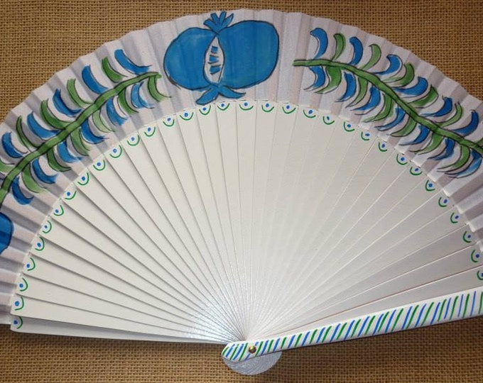 MTO Std Andalucian Pomegranate Hand Fan