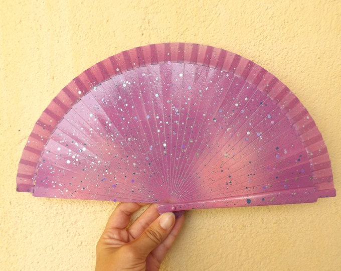 MTO Small Mixed Pink Blue Hand Fan