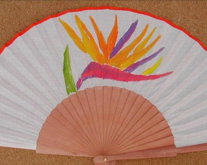 MTO Std Bird of Paradise Wood Fan