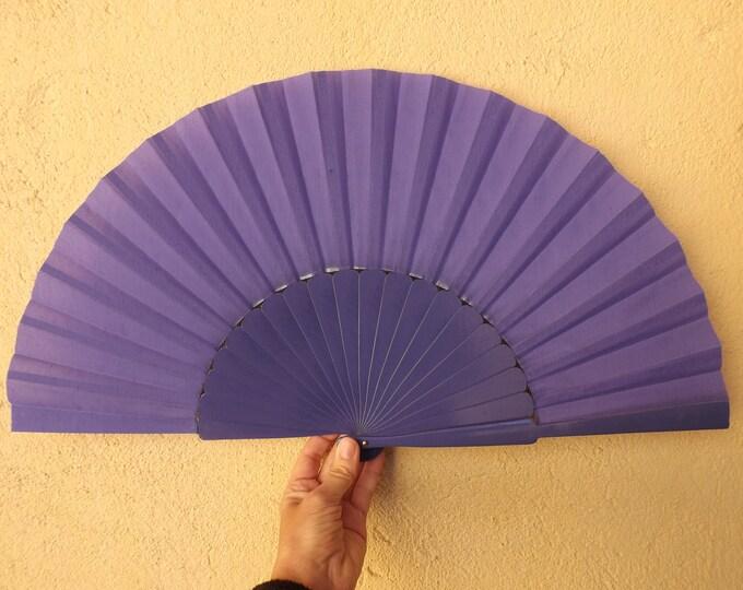 XL Supersize Purple Wooden Hand Fan