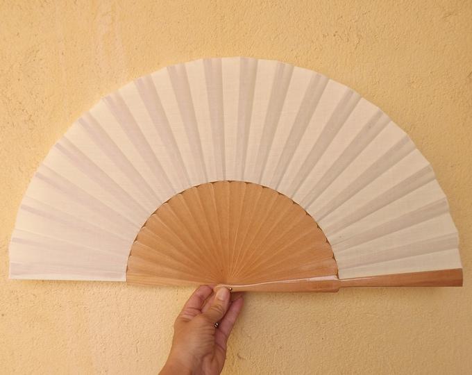 MTO XL Supersize Natural Wooden Hand Fan