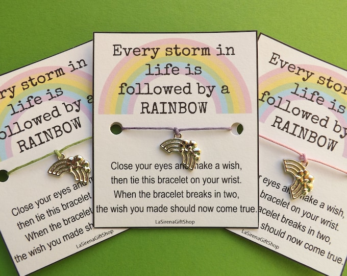 Every Storm in Life is Followed by a RAINBOW Wish Bracelet