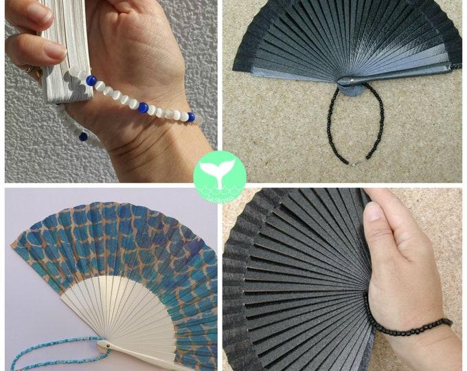 Beaded Hand Fan Wrist Strap