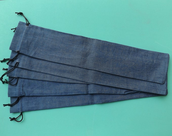 WHOLESALE Supersize XL Hand Fan Bags Denim Look