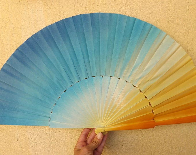 MTO XL Supersize Sea and Sand Colors Hand Fan