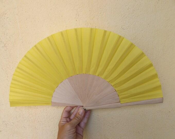 Std Yellow Wood Unvarnished Hand Fan