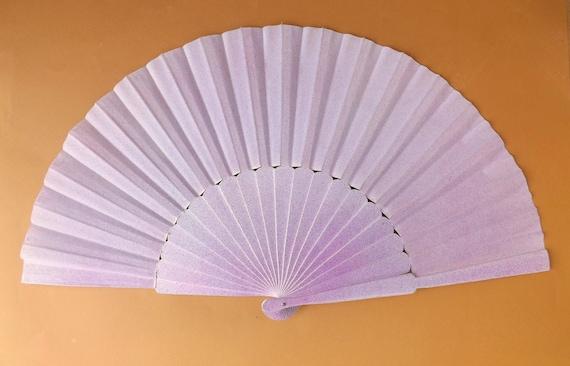 MTO XL Supersize Mermaid Sea Colors Glitter Hand Fan ~ Drag Fan ~ Thwoorp Fan ~ Pericon Wood Fabric Fan ~ Made to Order