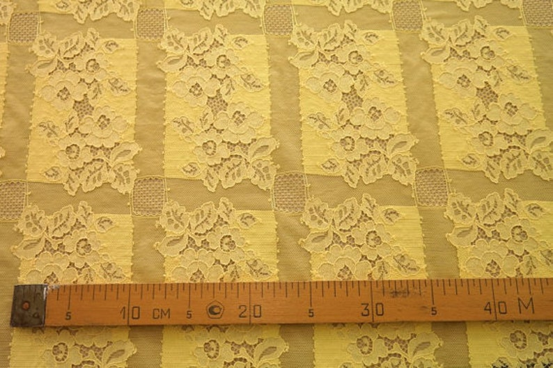 Yellow lace French lace meter Alencon lace