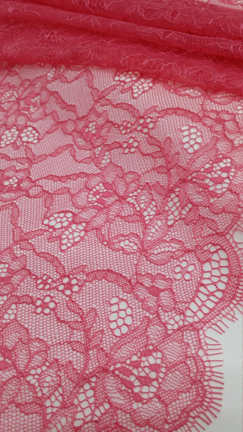 Pink Lace band French chantilly lace Meter