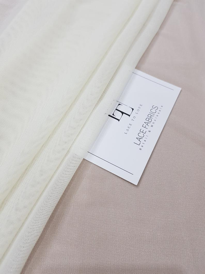 wedding dress fabric cream tulle fabric Ivory elastic tulle fabric by the metre skirt fabric T13181 bridal fabric