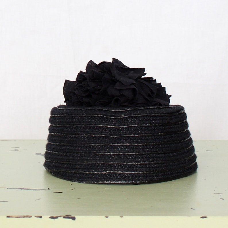 Mini HAT handmade One of a kind classic hat England style  pillbox hat  elegant Parisian style  Church Hat  wedding hat