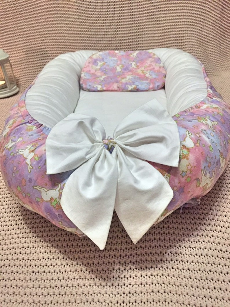 Double-sided  Babynest newborn Cocoon baby nest bed removable mattress  Cot Sleeper Baby lounger Baby positoner Snuggle Nest pillow