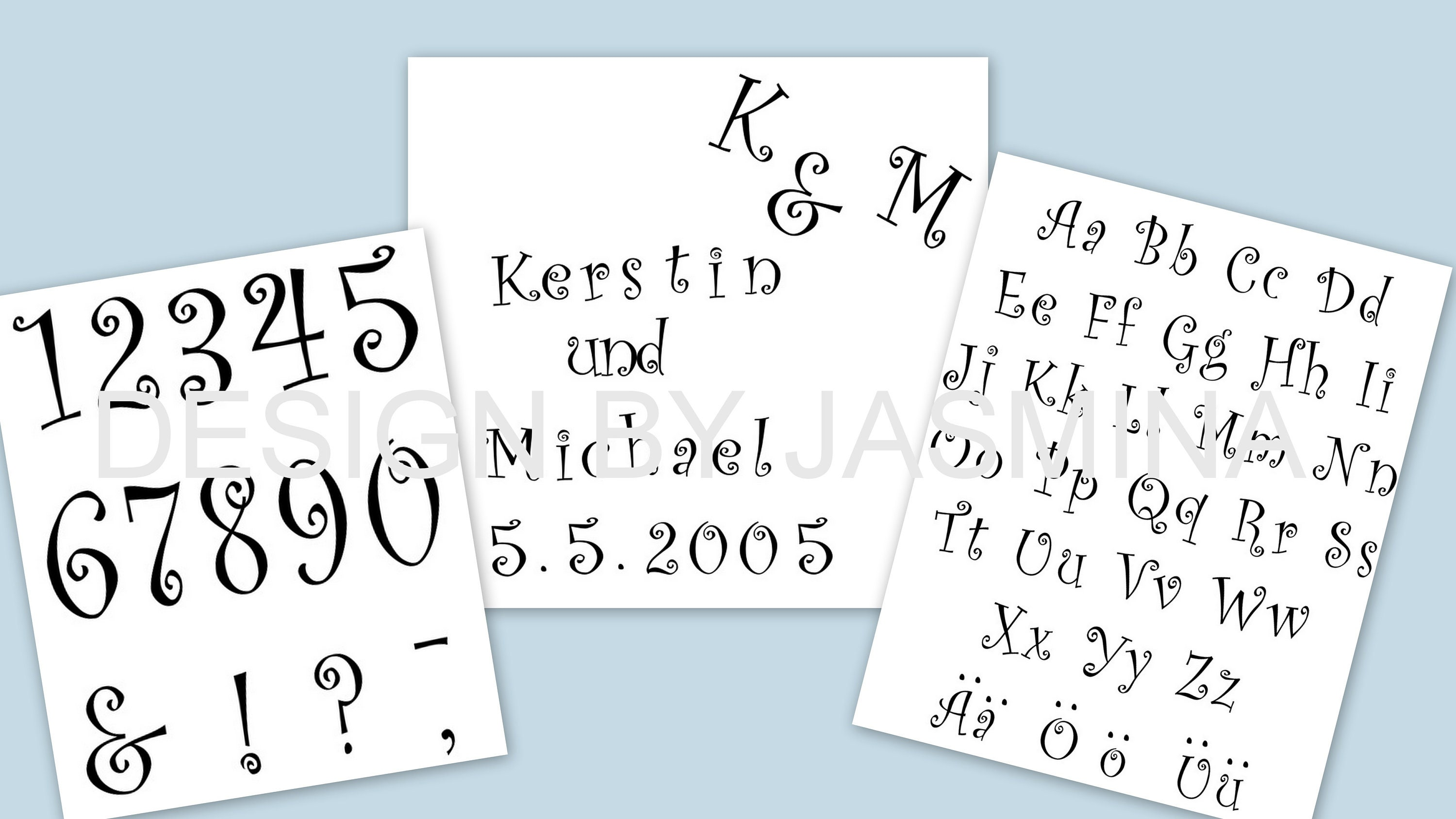 Plotter File Font Letters Numbers Frills Beautiful Font SVG