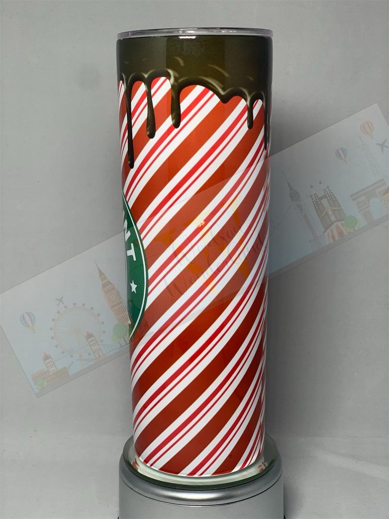 Peppermint Mocha- 20oz Skinny Tumbler Bridesmaid Just because Gift Christmas gift For Her Unique Birthday gift Teacher