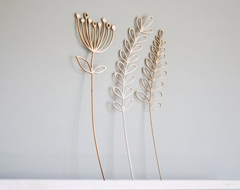 Wood Flowers Lasercut 3/S