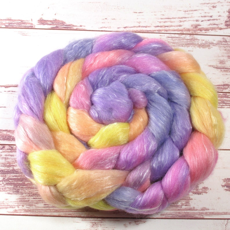 hand painted wool top wool for spinning and felting 150g hand painted Merino Tencel 12,50Euro100g hand dyed roving